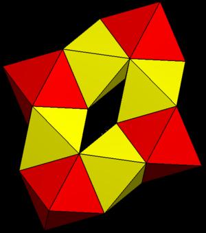Toroidal polyhedron - Image: Eight octahedra toroid