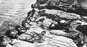 Anti-Jewish pogroms in the Russian Empire - Photo believed to show the victims, mostly Jewish children, of a 1905 pogrom in Yekaterinoslav (today's Dnipro)