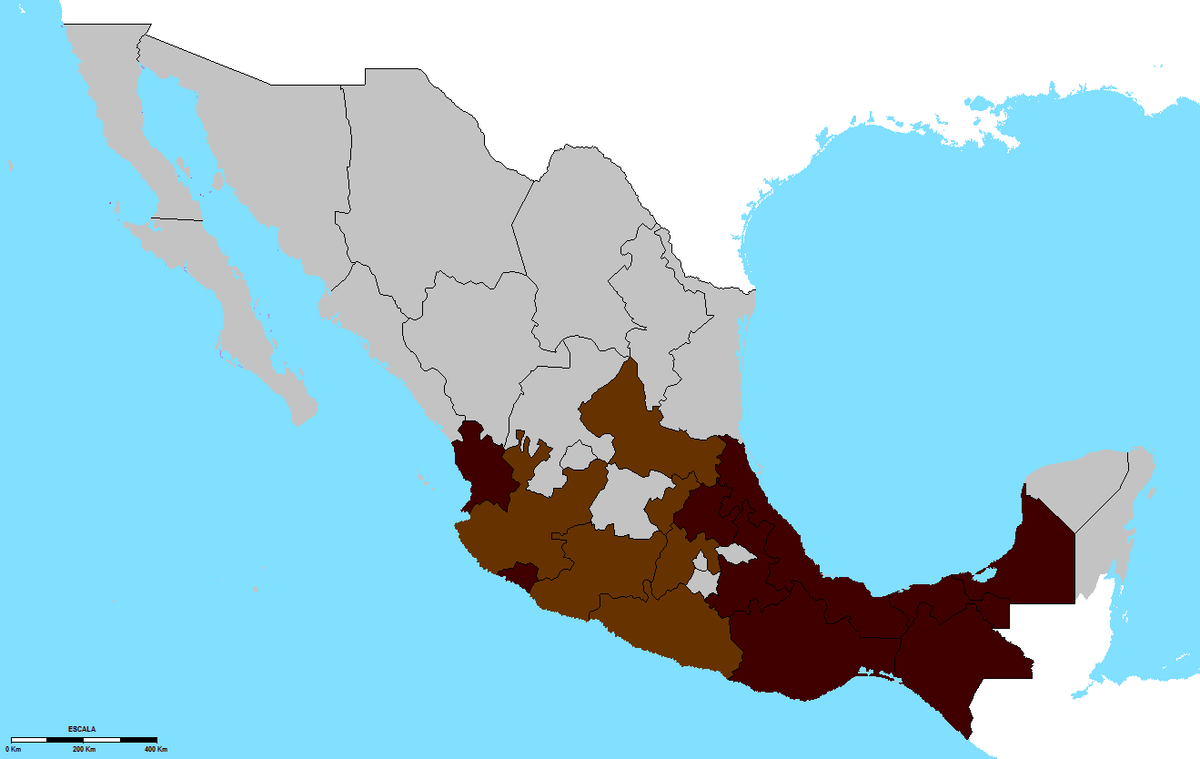Coffee Production In Mexico Wikipedia - Mexico regions map