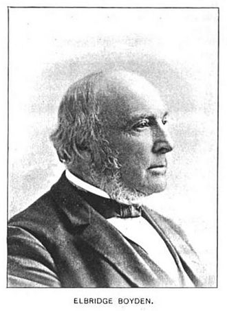 Elbridge Boyden - Elbridge Boyden, 1810-1898