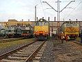 Elektrowozy ET42,ET41,ET22 i EU07 w lokomotywowni Kobylepole 24 listopada 2019.jpg