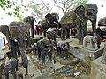 Elephant Statuary - Outside Lumbini - Terai - Nepal (13846105304).jpg