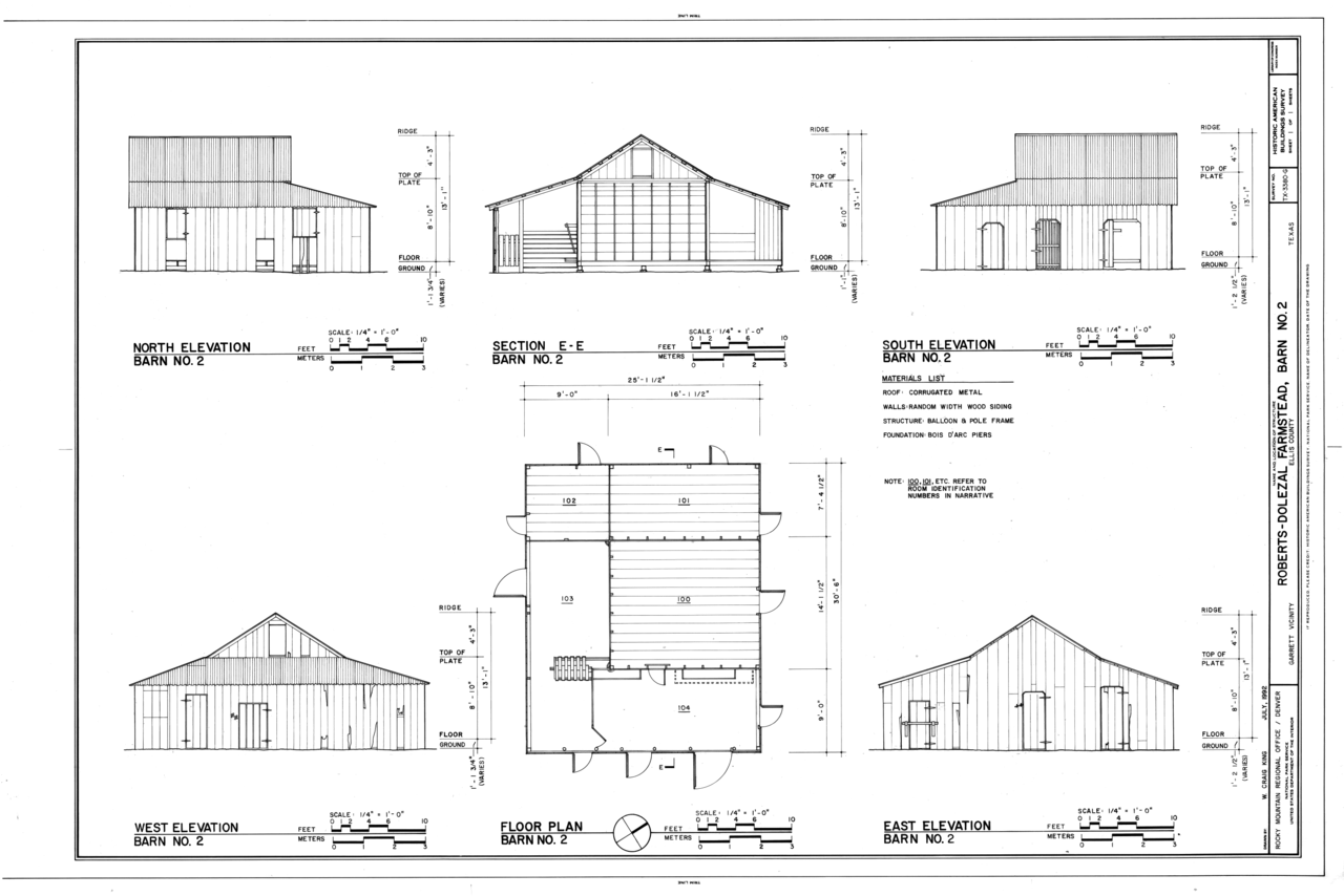 House Plan With Elevation And Section