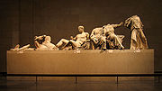 A few of the Elgin Marbles (also known as the Parthenon Marbles) from the East Pediment of the Parthenon.