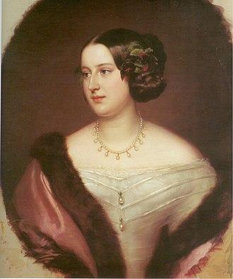 Count Karl Ludwig von Ficquelmont - Portrait of countess Elisabeth-Alexandrine de Ficquelmont, Princess Clary-Aldringen