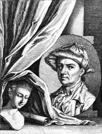 Jakob Emanuel Handmann - Portrait of Jakob Emanuel Handmann (1770).