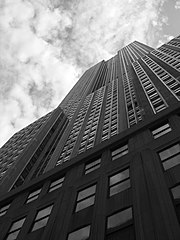 Street level view of the Empire State Building