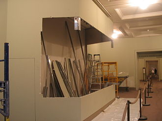 Art exhibition - Exhibition space being readied for a show at the Arthur M. Sackler Gallery