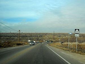 Utah State Route 111 - SR-111's northern terminus at SR-201