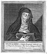 Engraving; German abbess and physician Hildegard von Bingen Wellcome L0005783.jpg