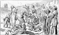 Engraving of Alesians begging for food from Caesar after being expelled from their homes. From Caesar's Gallic War, 1916..png