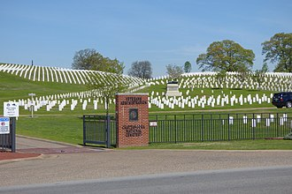 Chattanooga National Cemetery - Image: Entrance to Chattanooga National Cemetery