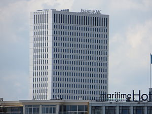 Erasmus University Rotterdam - new building (2012) of the Erasmus MC.