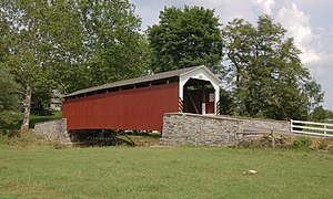 Hammer Creek - Erb's Covered Bridge over Hammer Creek in Lancaster County, Pennsylvania