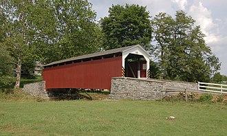 Hammer Creek - Erb's Covered Bridge over Hammer Creek in Lancaster County, Pennsylvania