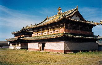 Khalkha Mongols - The Erdene Zuu Monastery was established in the 16th century by Abatai Sain Khan in the heartland of the Khalkha territory