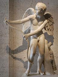 Eros spant zijn boog