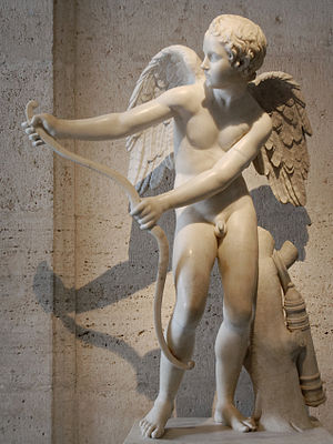 Romance (love) - Roman copy of a Greek sculpture by Lysippus depicting Eros, the Greek personification of romantic love