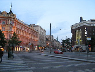 Kilometre zero - Erottaja Square in Helsinki, the Kilometre Zero of Finland