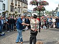 Escapologist entertains the crowds, Keswick - geograph.org.uk - 489350.jpg