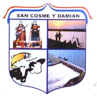 San Cosme y Damián - Image: Escudo de San Cosme y Damian, Itapua