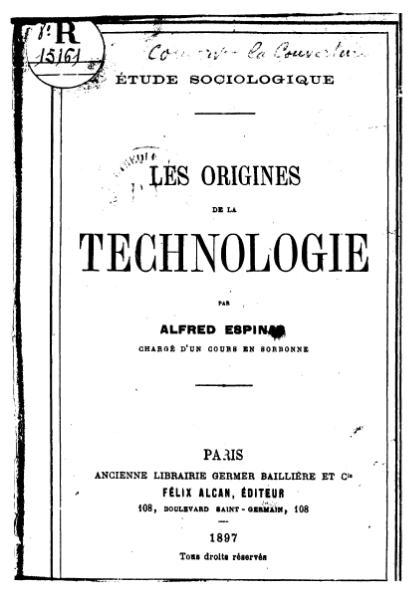 File:Espinas - Les Origines de la technologie, 1897.djvu