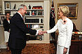 Estonian Ambassador H.E. Mr Andres Unga presents his credentials to the Governor-General of Australia H.E. Ms Quentin Alice Louise Bryce. 28.03.2013 (8597769370).jpg