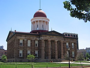 Old State Capitol State Historic Site - The Old State Capitol building in Springfield, Illinois.