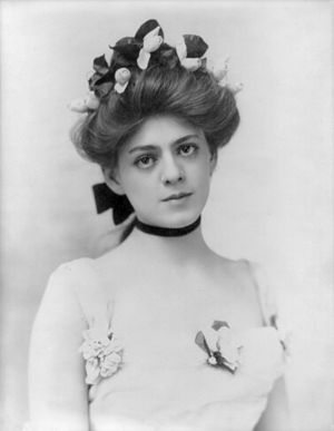 Broadway and Hollywood actress Ethel Barrymore...