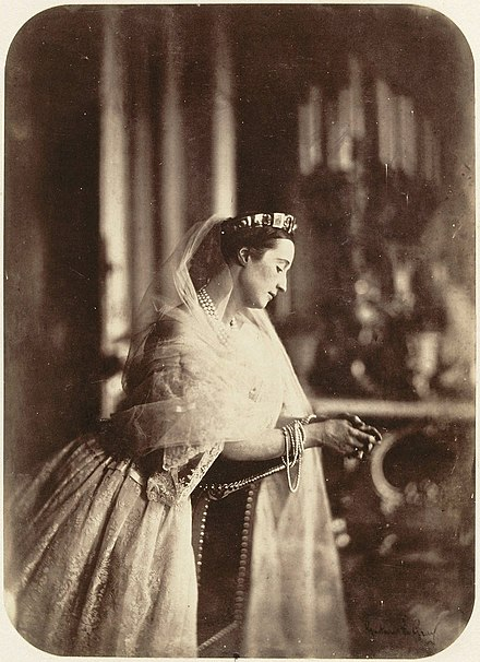 Eugenie de Montijo - the last empress of the French, circa 1856 Eugenie de Montijo, Empress consort of the French.jpg
