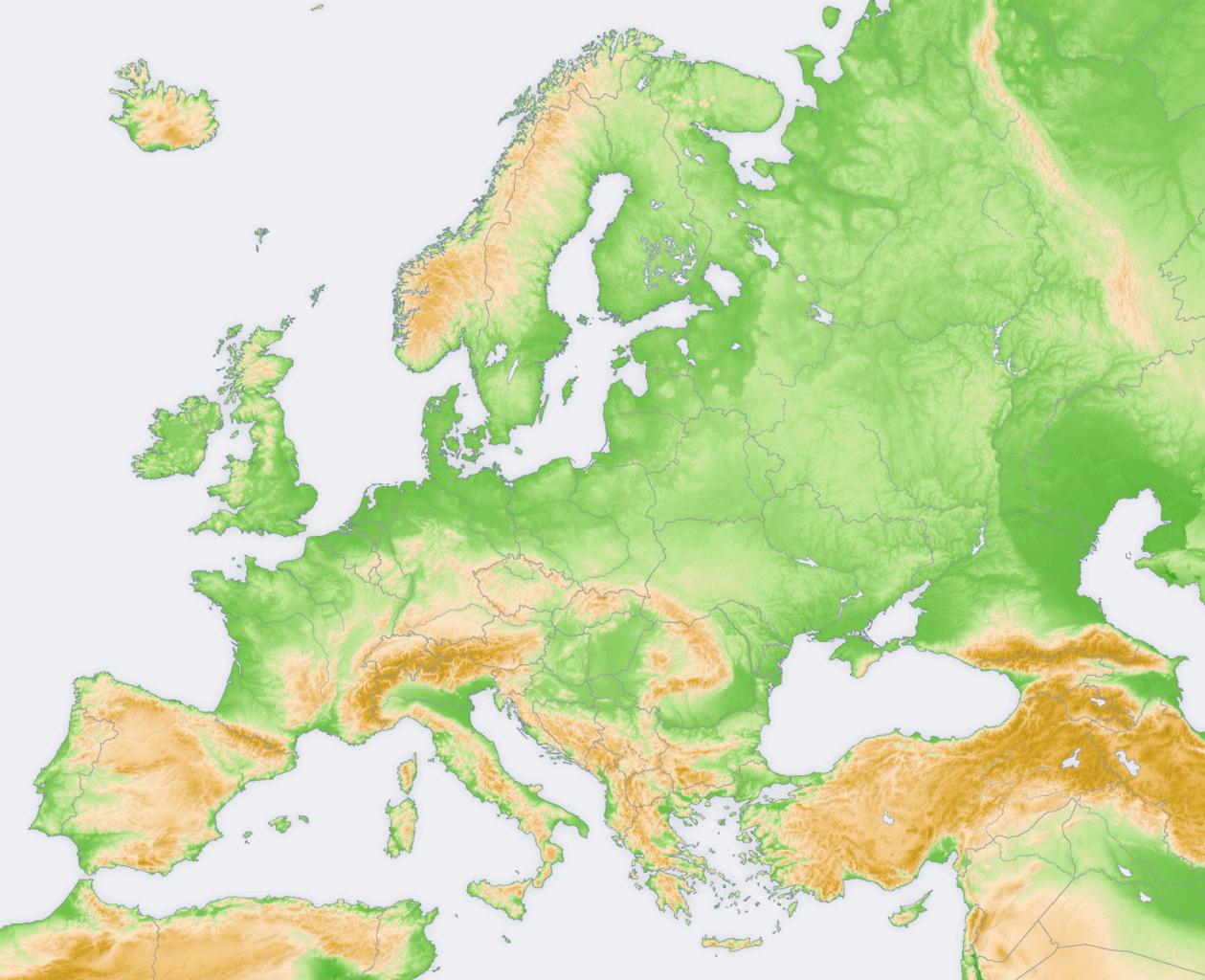 Mapa Fisic De Europa.File Europe Topography Map Png Wikipedia