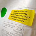 European Union customs declaration sticker for couriers.JPG