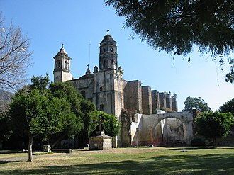 Tepoztlán -  Ex-convent of Dominico de la Natividad, a World Heritage Site.