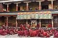 Examination of monks, Tashilhunpo Monastery, Shigatse, Tibet (1).jpg