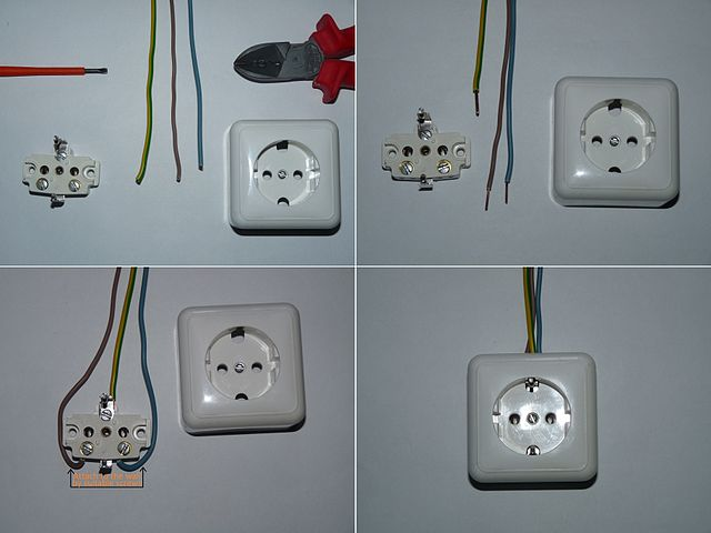 file example of schuko wiring jpg wikimedia commons rh commons wikimedia org Electrical Wiring Electrical Wiring