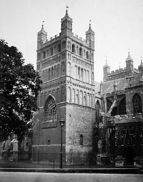 File:Exeter Cathedral, the Northwest Tower by Francis Bedford.jpg