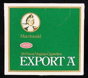 Export (cigarette) - Image: Export A cigarettes, pic 1