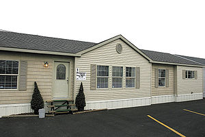 Mobile home - Example of a modern manufactured home in New Alexandria, Pennsylvania. 28 feet x 60 feet