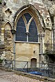 External arch on the northeast of Tewkesbury Abbey.jpg
