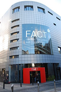 Foundation for Art and Creative Technology arts centre containing four cinemas, two galleries, a multi-media centre, cafe and bars