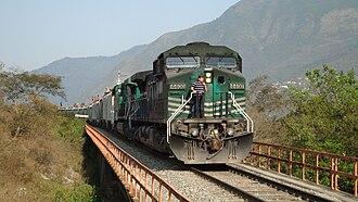 Rail transport in Mexico - Ferrosur train in Veracruz