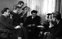 Fadil Hadžić with his colleagues.jpg