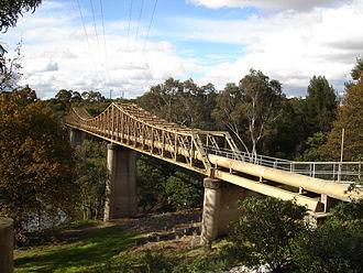 Main Yarra Trail - Fairfield Pipe Bridge in Yarra Park