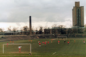 Fallowfield Stadium - Student match in 1985