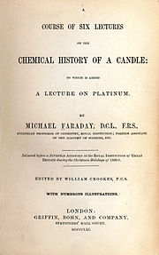 The title page of The Chemical History of a Candle (1861)