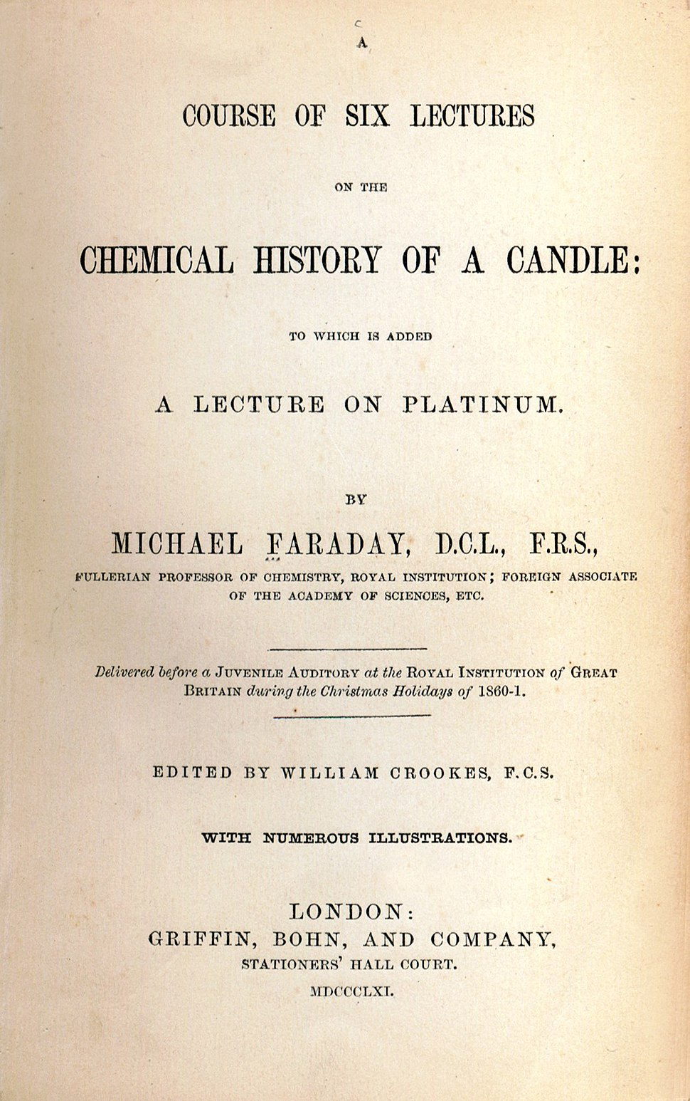 Faraday title page