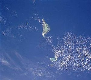 Farquhar Group - Farquhar Group: Providence Atoll at the top, St. Pierre Island to the left and the Farquhar Atoll at the bottom