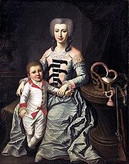 Portrait of Tekla Łubieńska née Bielińska and her son Franciszek.