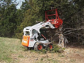 Forestry mulching - Forestry mulching attachment on a Bobcat skid steer