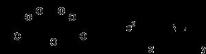 Strukturformel von Ammoniumeisen(III)-citrat